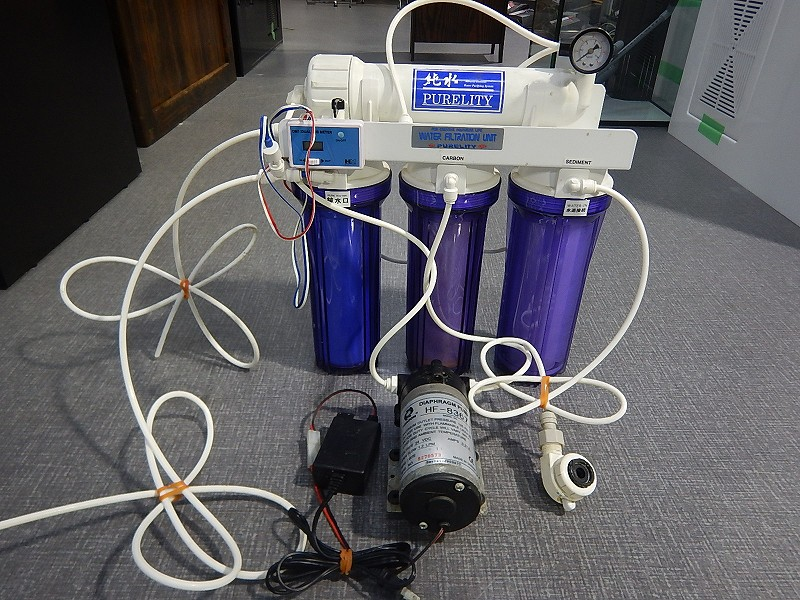 画像1: 【リユース品】【浄水器】リーフマスター&加圧ポンプ&TDSメーターセット(発送可能)(熱帯魚)(中古)(アクアリウム用品) (1)